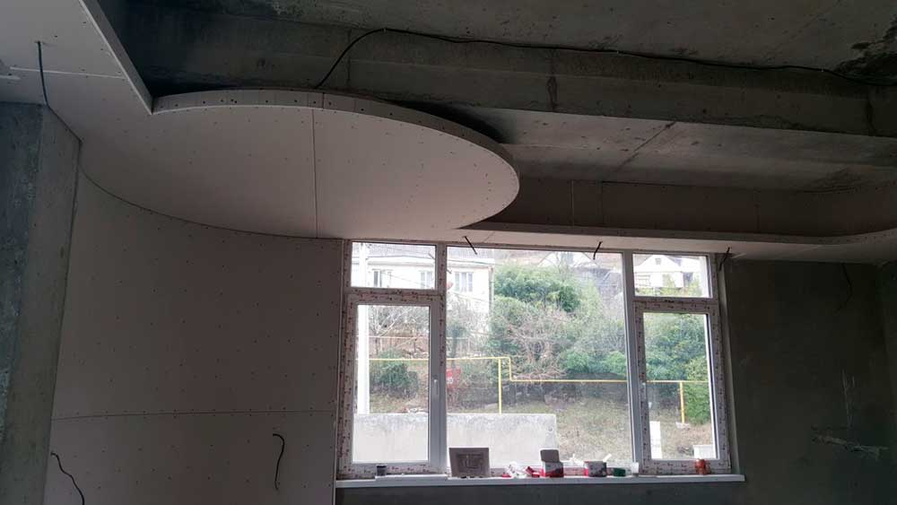 Черновая подготовка потолка