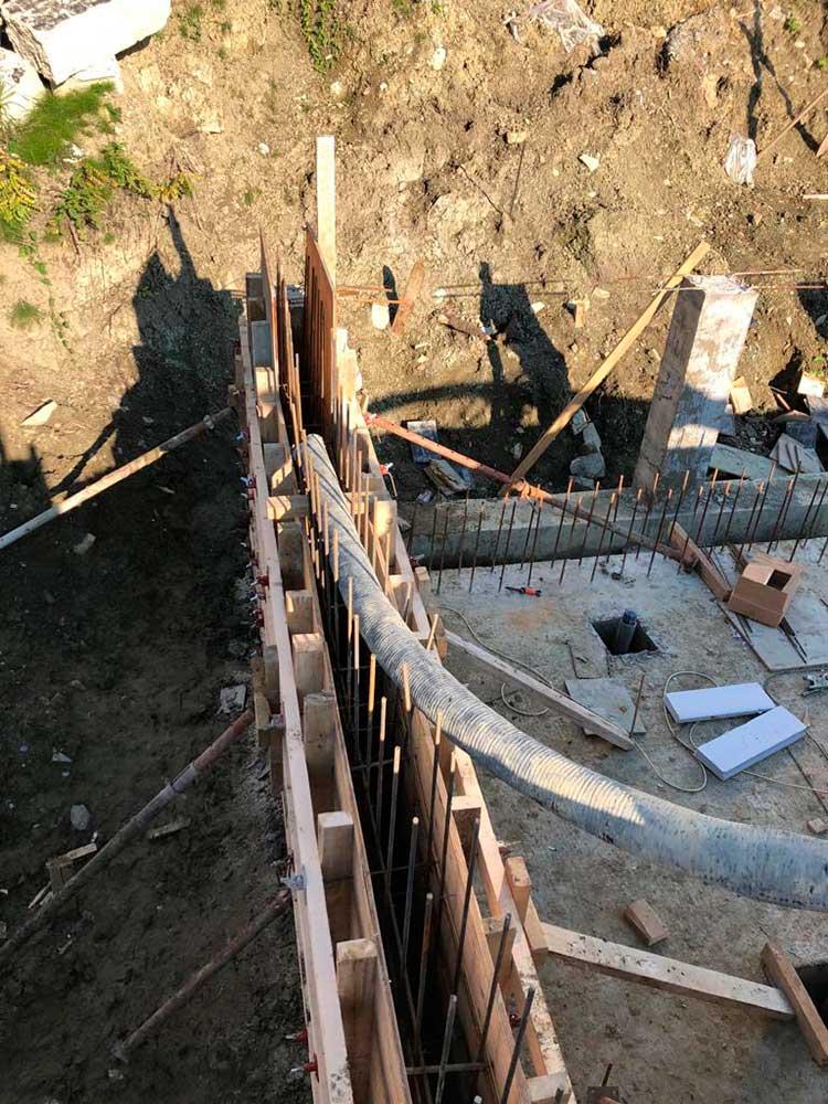 Строительство ж.б. бассейна